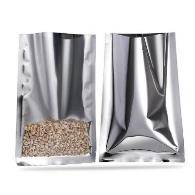 Heat Seal Clear Silver Aluminum Foil Bags Mylar Food Storage Vacuum Pouches