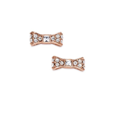 Authentic kate spade new york Ready Set Bow Stud Earrings Rose gold