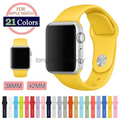 Replacement Silicone Sport Strap For Apple Watch Band Series 4 3 40mm 44mm 42mm