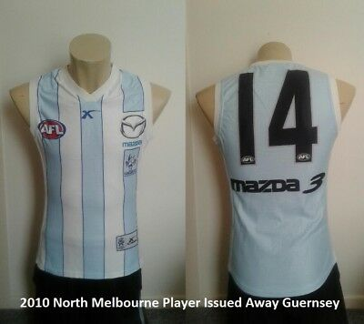 2010 North Melbourne Player Issued Away Guernsey Size XS