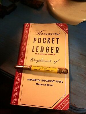 John deere bullet pencil and matching pocket ledger from Monmouth Illinois