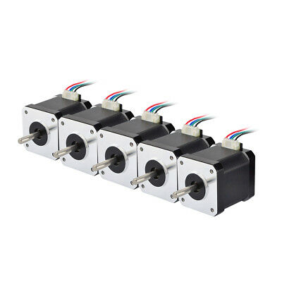 5pcs Nema 17 Stepper Motor 64oz.in 1.68A 4-lead 1m Cable for CNC 3D Printer