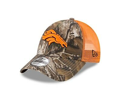 d6b663ac270 Denver Broncos New Era Real Tree Trucker Mesh 9Forty Adjustable hat - Camo