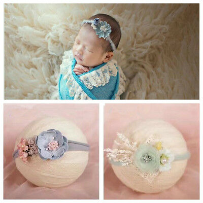 Newborn Baby Flower Pear Headband Girl Hair Accessories Photography Props