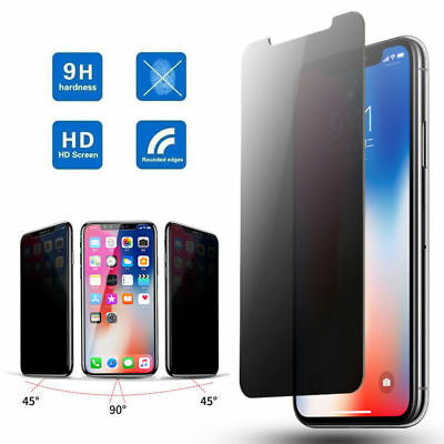 For iPhone XS Max XR 2 PCs Privacy Anti-Spy Tempered Glass Screen Shield Protect