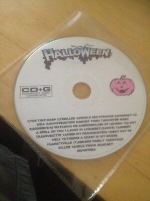 Halloween Karaoke Cd+G Backing Tracks