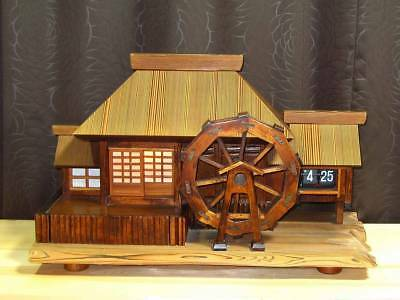 Vintage Flip Clock feature Japanese old private house with music box Showa Retro