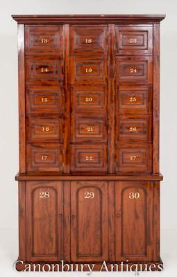 William IV Locker Cabinet Mahogany Chest Interiors