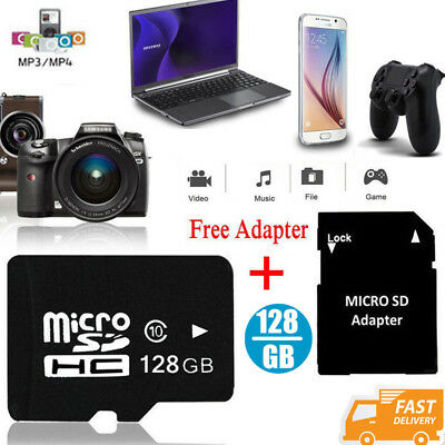 128GB Memory Micro SD Speicherkarte Adapter SD SDHC Karte Class 10 für Mp4 Phone