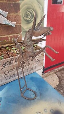 Abstract Bronze Sculpture/statue Horse Rider Free Standing  Rare