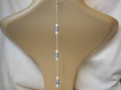 2dr Clip-on Backdrop Attachment for a necklace Bridal Wedding Bridesmaid Prom