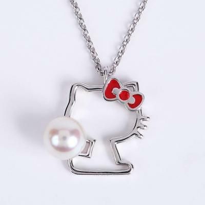 8e9b7f6f1 Hello Kitty Silhouette pendant Ladies gift wrapped Moon Label Japan for  gift NEW