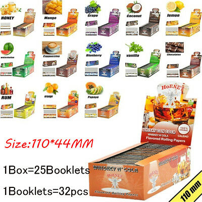 Hot 110mm 480pcs 15 Fruits Flavor Hand Rolled Smoking Cigarette Rolling Papers ~