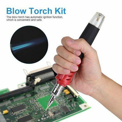 10 in 1 Gas Soldering Iron Kit Butane Solder Blow Torch Pen Welding Burner Tools