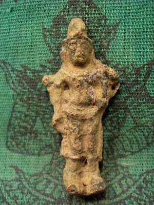 Ancient God Shiva Vishnu Statue Khmer Angkor Antique Bronze Old Thai Amulet