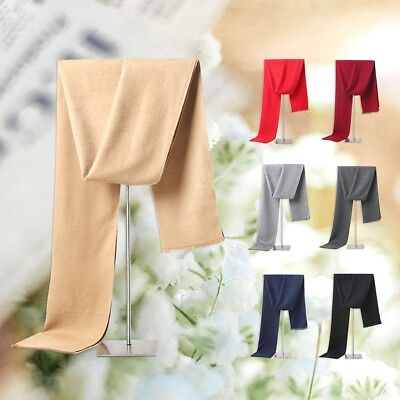 Simple Pure Color Long Soft Cotton Men Scarf Casual Male Cotton Wrap Scarf Shawl