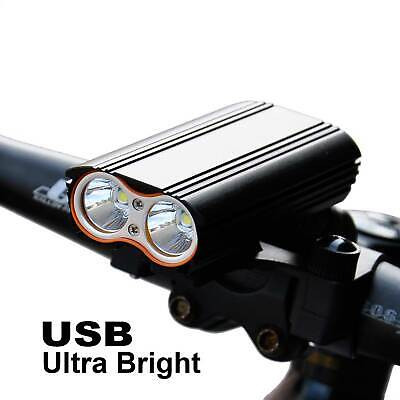 Ultra Bright USB Rechargeable T6 Bike Bicycle Cycling LED Front Light Head Lamp