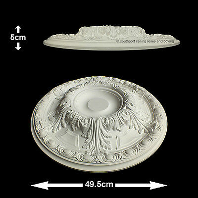49.5cm Diameter, Lightweight Ceiling Rose (made of strong resin not polystyrene)