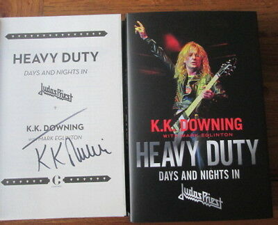 K.k. Downing Signed Book-Heavy Duty Days And Nights In Judas Priest
