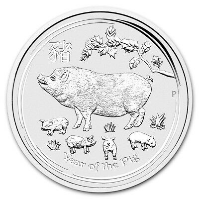 2019 Year of the Pig 1oz silver bullion coin