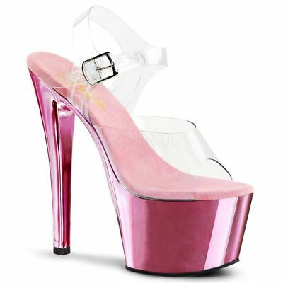 Pleaser Plateau Sandaletten SKY 308UV Rosa Gogo Tabledance