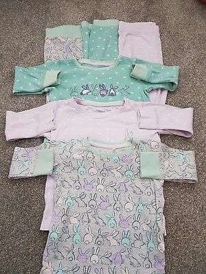 3 Pairs Of Girls Snuggle Fit Pyjamas From Next 12-18 Months