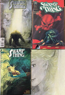 Lot 3 Swamp Thing Comic Book #114 1991  #136 #138 1993 Collins