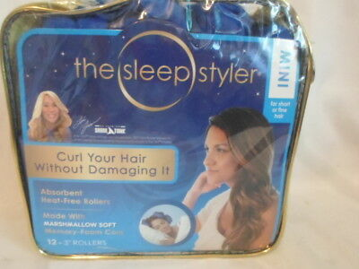 """New The Sleep Styler Curl Your Hair Without Damaging It 12-3"""" Rollers - Mini"""