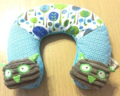 Maison Chic Boy Owl Baby Child Infant Travel Pillow Neck Head Support