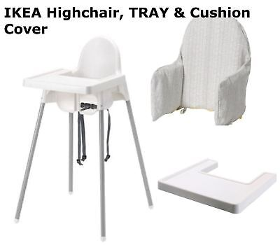 IKEA Antilop Baby Highchair with Safety Belt Matching Tray,Supporting cushion