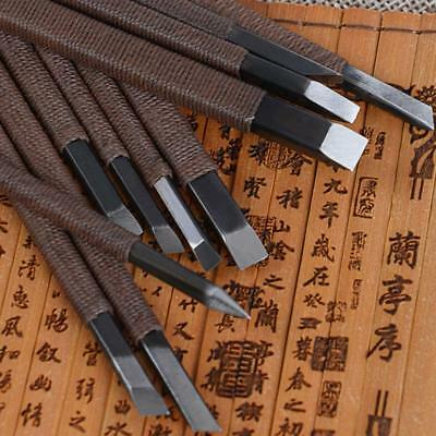 3-11pcs DIY Wood Carving Chisel Set Engraved Stone Lettering Cutter Tool Crafts