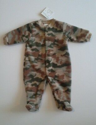 Baby boys clothes fleece baby grow newborn 0-3 3-6 months BNWT