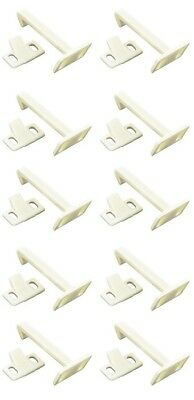 10 x Child Safety Catch Child Lock Cupboard Door Drawer Lock Catches + Screws