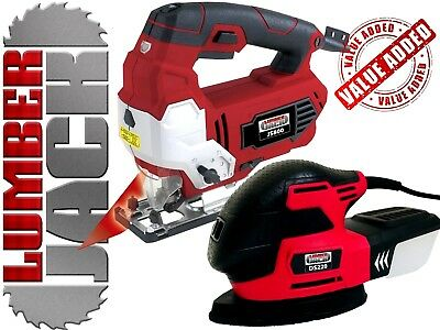 Lumberjack Variable Speed Jigsaw with Laser & Detail Palm Mouse Sander 240v