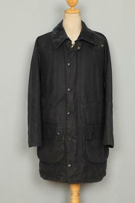 BARBOUR Gamefair WAXED Jacket Navy Size 42 Large