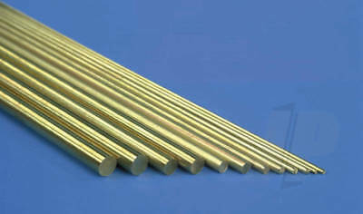 K&S Metals Solid Brass Rod Metric Sizes. 305mm long select size. Pack qty varies