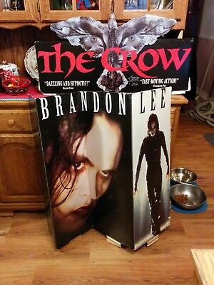The Crow, VTG, VIDEO STORE Floor Standee, Signed By James O'Barr USED INCOMPLETE