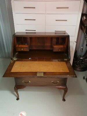 Small antique bureau/writing desk with three drawers