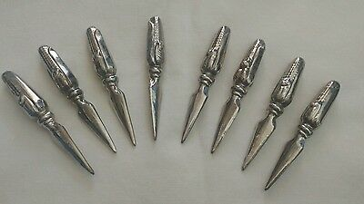 Vintage Silver Plated Corn on the Cob Holders Set of 8