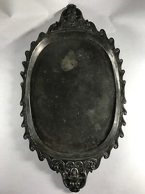 ca1881-1886 Sheffield UK EPBM Serving tray w/ Womans Head - Joseph Ridge & Co -