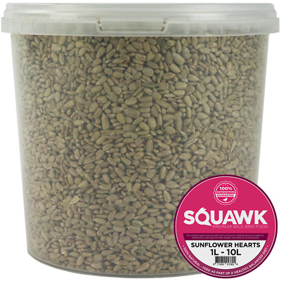 SQUAWK Sunflower Hearts - Bakery Grade Seed Kernels No Mess Wild Bird Food