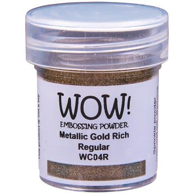 WOW! Metallic Embossing Powder Gold Rich Regular | 15ml Jar