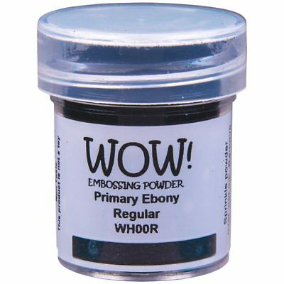WOW! Primary Colours Embossing Powder Ebony Black Regular | 15ml Jar