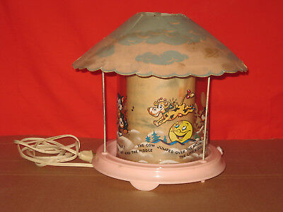 Vintage Econolite Nursery Rhyme Motion Lamp 1940s