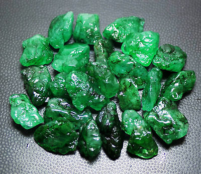 5-50 Ct Size Beautiful Rich Green Natural Emerald Rough Gemstone Lot Best Price