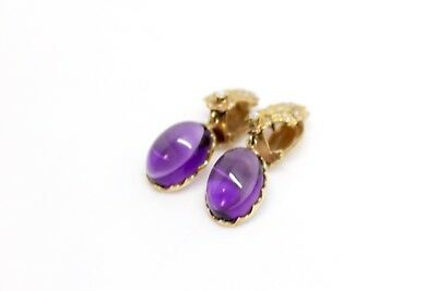 A Quality Pair of Vintage Art Deco Style 18ct Amethyst & Diamond Earrings