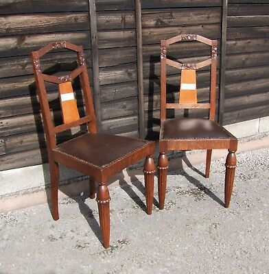 FRENCH 1930's MAHOGANY PAIR OF BEDROOM/CHAIRS - (CON837)