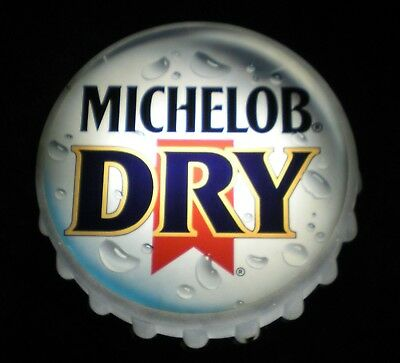 Michelob Dry Lighted Beer Sign, Bottle Cap