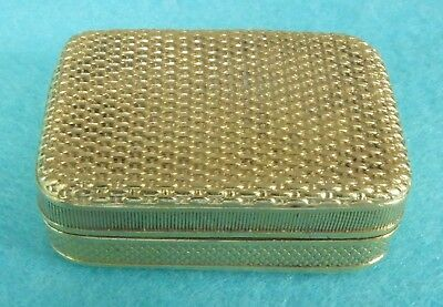 Very Rare Georgian Sterling Silver Gilt Vinaigrette Basket Weave Paul Storr 1806