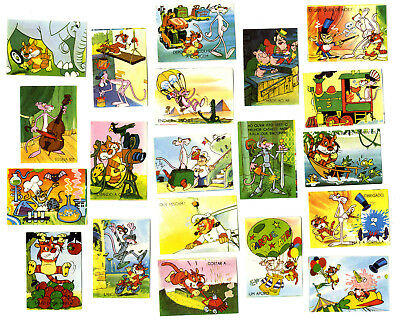 20 x  Portugal / Portuguese Trading Paper Cards  80`s PINK PANTHER